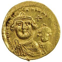 BYZANTINE EMPIRE: Heraclius, 610-641, AV solidus (4.47g), Constantinople mint. EF