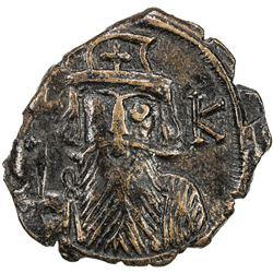 BYZANTINE EMPIRE: Constans II, 641-668, AE follis (3.98g), Constantinople. VF-EF