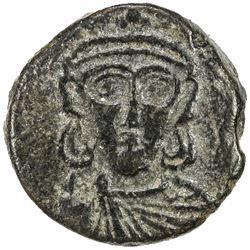 BYZANTINE EMPIRE: Constantine IV, Pogonatus, 668-685, AE follis (2.68g), Naples. VF