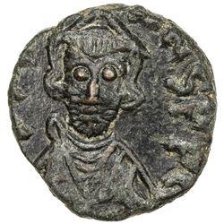 BYZANTINE EMPIRE: Justinian II, First reign, 685-695, AE follis (3.11g), Carthage. EF