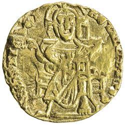 BYZANTINE EMPIRE: Basil I, the Macedonian, 867-886, AV solidus (3.93g), Constantinople. F-VF