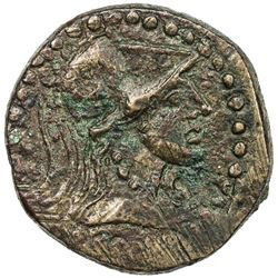 SPAIN: Emporiae: Anonymous, 50-27 BC, AE 26 (9.79g). F-VF