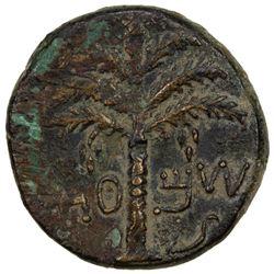 ANCIENT JUDEA: Bar Kochba Revolt, 132-135, AE 25 (11.59g), year 2 (=133/4 AD). F