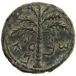 ANCIENT JUDEA: Bar Kochba Revolt, 132-135, AE 25 (13.89g). VF