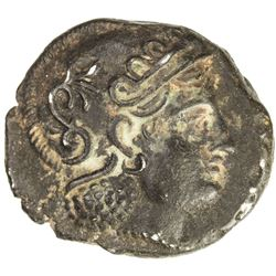 PARTHIAN AREA: Sophytes, ca. 246-239 BC, AR drachm (Hekatompylos?). VF-EF
