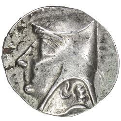 PARTHIAN KINGDOM: Arsakes I, ca. 247-211, AR drachm (4.35g), Hekatompylos. EF