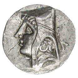 PARTHIAN KINGDOM: Arsakes II, c. 211-191 BC, AR drachm (3.83g). EF