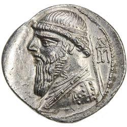PARTHIAN KINGDOM: Mithradates II, c. 123-88 BC, AR drachm (4.25g). EF