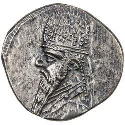 PARTHIAN KINGDOM: Mithradates II, c. 123-88 BC, AR drachm (4.16g). EF