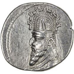 PARTHIAN KINGDOM: Gotarzes I, c. 90-80 BC, AR drachm (3.96g). EF
