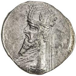 PARTHIAN KINGDOM: Gotarzes I, c. 90-80 BC, AR drachm (4.06g). EF