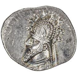 PARTHIAN KINGDOM: Gotarzes I, c. 90-80 BC, AR drachm (3.95g). EF
