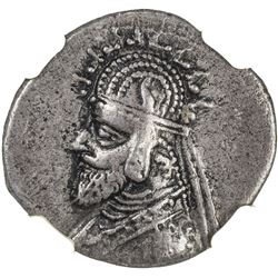 PARTHIAN KINGDOM: Phraates III, c. 70-57 BC, AR drachm, Susa mint. NGC VF