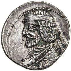 PARTHIAN KINGDOM: Phraates III, c. 70-57 BC, AR drachm (4.01g), Rhagae. VF-EF