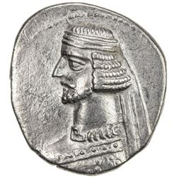 PARTHIAN KINGDOM: Mithradates III, c. 57-54 BC, AR drachm (3.94g), Ekbatana. VF-EF