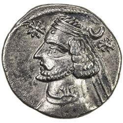 PARTHIAN KINGDOM: Orodes II, c. 57-38 BC, AR drachm (3.51g), Ekbatana. VF-EF