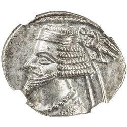 PARTHIAN KINGDOM: Phraates IV, c. 38-2 BC, AR drachm (3.99g), Ekbatana. NGC MS