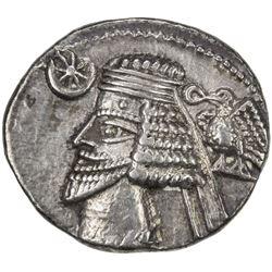 PARTHIAN KINGDOM: Phraates IV, c. 38-2 BC, AR drachm (3.30g), Ekbatana. VF-EF