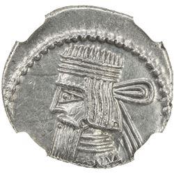 PARTHIAN KINGDOM: Artabanos II, AD 10-38, AR drachm, Ekbatana. NGC AU