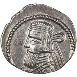 PARTHIAN KINGDOM: Artabanos II, AD 10-38, AR drachm (3.66g), Ekbatana. VF-EF