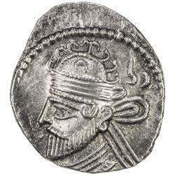 PARTHIAN KINGDOM: Vologases II, AD 77-80, AR drachm (3.59g). EF
