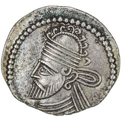 PARTHIAN KINGDOM: Pakoros II, AD 78-105, AR drachm (3.84g). VF-EF