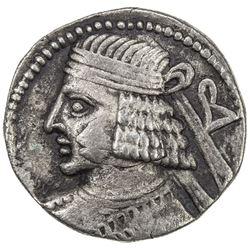 PARTHIAN KINGDOM: Pakoros II, AD 78-105, BI tetradrachm (14.27g), Seleukeia, Sel-389 (77/78 AD). VF