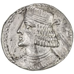 PARTHIAN KINGDOM: Pakoros II, AD 78-105, BI tetradrachm (14.38g), Seleukeia, Sel-391 (79/80 AD). VF-