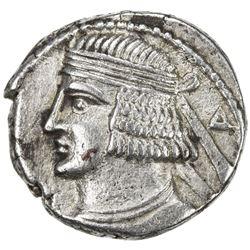 PARTHIAN KINGDOM: Pakoros II, AD 78-105, BI tetradrachm (13.29g), Seleukeia, Sel-390 (78/79 AD). VF