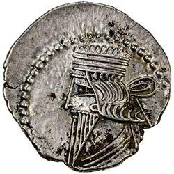 PARTHIAN KINGDOM: Pakoros II, AD 78-105, AR drachm (3.84g). EF