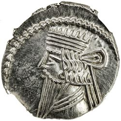 PARTHIAN KINGDOM: Pakoros II, AD 78-105, AR drachm (3.80g). NGC MS
