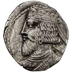 PARTHIAN KINGDOM: Artabanos III, AD 80-90, BI tetradrachm (13.66g), Seleukeia, Sel-372 (60/61 AD). V