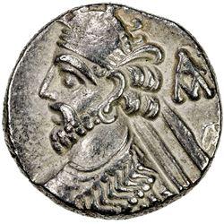 PARTHIAN KINGDOM: Vologases III, AD 105-147, BI tetradrachm (14.02g), Seleukeia, Sel-437 (125/26 AD)