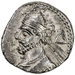 PARTHIAN KINGDOM: Vologases III, AD 105-147, BI tetradrachm (13.82g), Seleukeia, Sel-435 (123/24 AD)