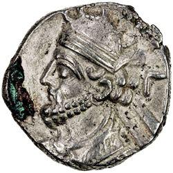 PARTHIAN KINGDOM: Vologases III, AD 105-147, BI tetradrachm (14.09g), Seleukeia, Sel-435 (123/24 AD)
