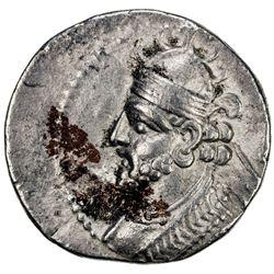PARTHIAN KINGDOM: Vologases III, AD 105-147, BI tetradrachm (13.78g), Seleukeia, Sel-433 (121/22 AD)