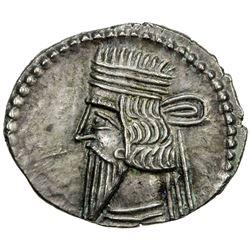 PARTHIAN KINGDOM: Vologases III, AD 105-147, AR drachm (3.81g). VF
