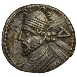 PARTHIAN KINGDOM: Vologases III, AD 105-147, BI tetradrachm (9.52g), Seleucia. VF
