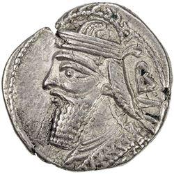 PARTHIAN KINGDOM: Vologases IV, AD 147-191, BI tetradrachm (13.70g), Seleukeia, Sel-466 (154/55 AD).