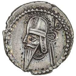 PARTHIAN KINGDOM: Vologases VI, AD 208-228, AR drachm (3.71g). EF