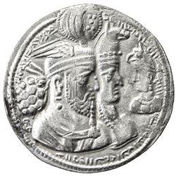 SASANIAN KINGDOM: Varahran II, 276-293, AR drachm (3.74g). VF