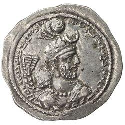 SASANIAN KINGDOM: Yazdigerd I, 399-420, AR drachm (4.81g), AWH (Ahwaz). EF