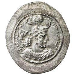 SASANIAN KINGDOM: Yazdigerd I, 399-420, AR drachm (4.52g), BBA (the court mint). EF
