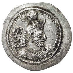 SASANIAN KINGDOM: Yazdigerd I, 399-420, AR drachm (4.12g), ST (Istakhr). EF