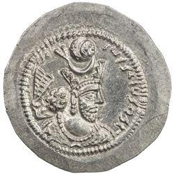 SASANIAN KINGDOM: Varahran V, 420-438, AR drachm (4.24g), LYW (Riv-Ardashir). AU