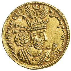SASANIAN KINGDOM: Khusro II, 591-628, AV dinar (4.59g), NM, year 21. EF