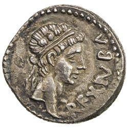 MAURETANIA: Juba II, 25 BC - 23 AD, AR denarius (3.14g). EF