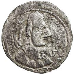 ALKHON HUNS: Khingila, ca. 440-490, AR drachm (3.68g). VF