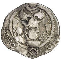 NORTHERN TOKHARISTAN: Anonymous, ca. 500-600, AR drachm (3.27g). F-VF