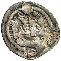 NORTHERN TOKHARISTAN: Anonymous, ca. 500-600, AR drachm (2.66g). F-VF